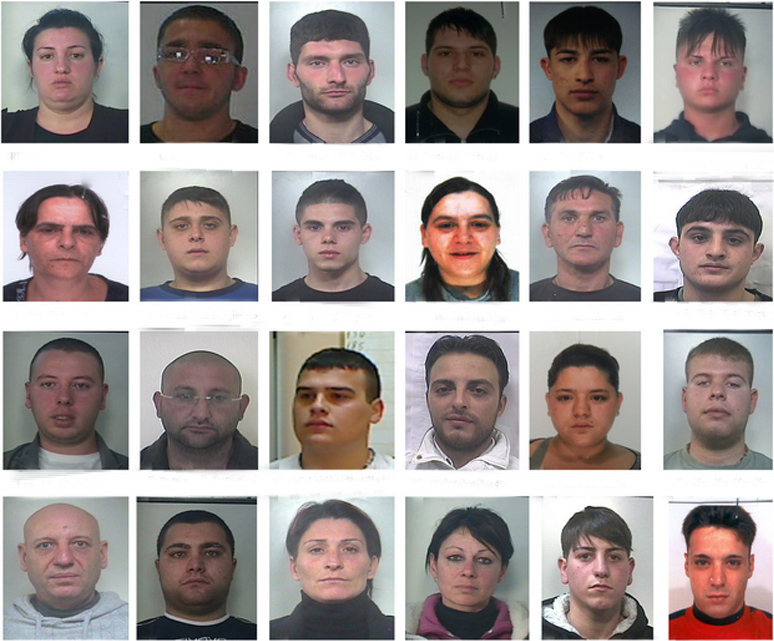 Gli arrestati dell'operazione dei Carabinieri denominata - Camaleonte