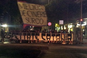 contestazione tifosi catanesi durante la partita di Coppa Italia contro la Spal