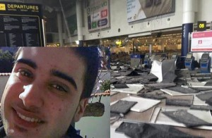 nella foto il figlio di emigrati siciliani a Bruxelles Michele Venetico rimasto lievemente ferito nell'esplosione