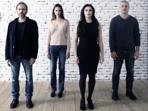 Nella foto di Luca Del Pia gli attori: lazzareschi, Della Rosa, Marinoni, Franzoni