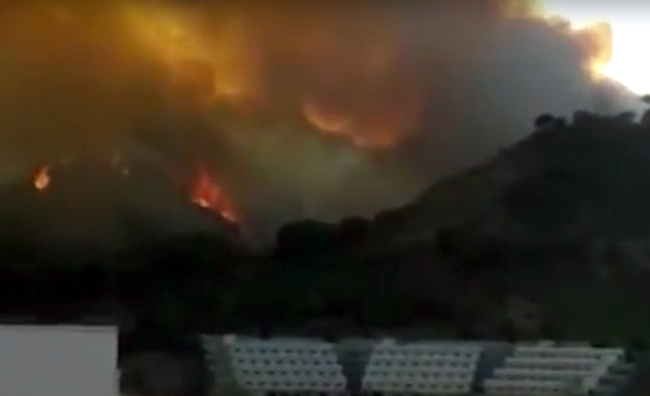 Gli incendi a Messina