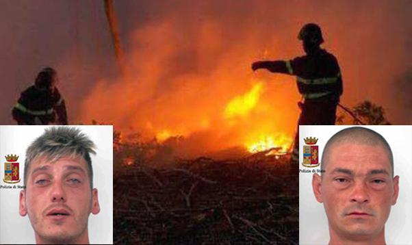 Romeni ubriachi appiccano un incendio boschivo sulla provinciale Vittoria-Scoglitti