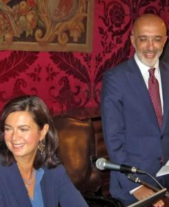 Da sinistra: la presidente della Camera dei deputati Laura Boldrini, il rettore dell'Università di Catania, Giacomo Pignataro