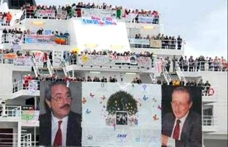 Nave della legalità attracca a Palermo