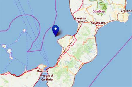 Terremoto avvertito in Sicilia e Calabria