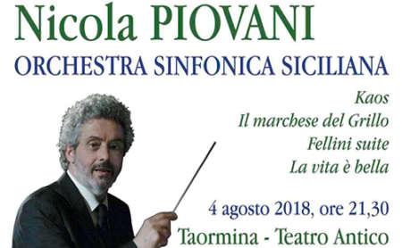 Piovani a Taormina e Catania dirige la Sinfonica Siciliana