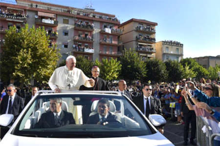 Papa Francesco a Piazza Armerina
