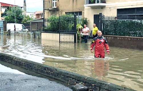 Catania paralizzata della pioggia