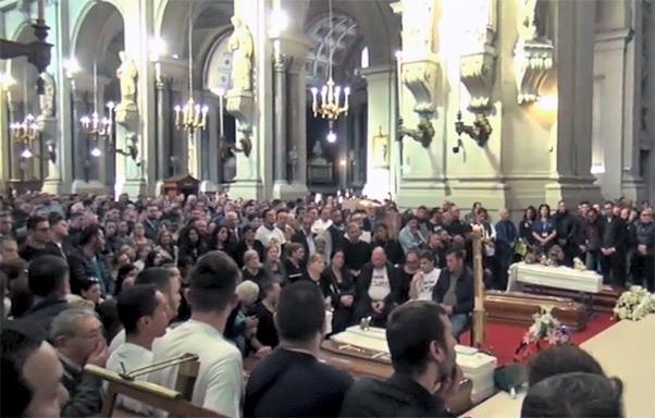 Funerali dei nove morti a Palermo