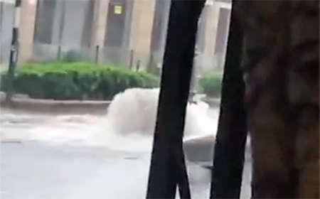 Violenta Bomba d'acqua a Catania