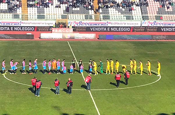 Catania-Paganese 2-1, gara faticosa