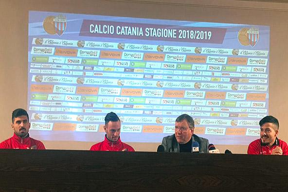 Calcio Catania, presentati i nuovi acquisti.