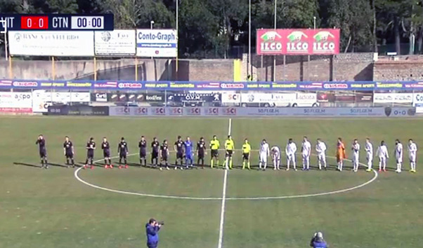 Viterbese-Catania 2-0, decisivo Polidori