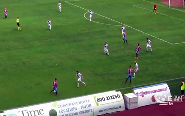 Catania-Bisceglie 2-1, etnei sul podio