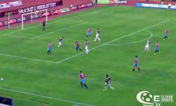 Catania-Sicula Leonzio 1-0, rigore essenziale di Lodi