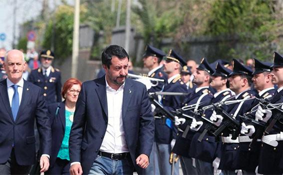 Il 25 aprile di Salvini a Corleone
