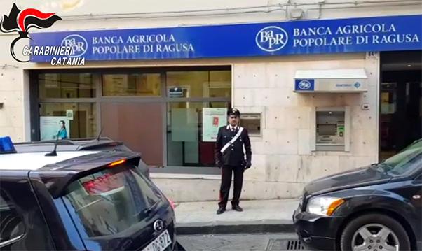 Sventato furto in banca a Ramacca