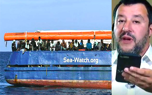 Sbarco Sea Watch, Salvini si infuria in tv