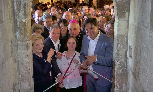 Inaugurazione mostra Paliotti al Castello Ursino - Interviste