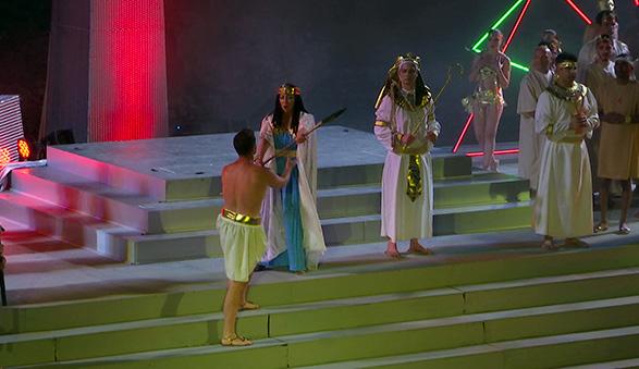 un amore oltre la morte, Successo per Aida a Taormina