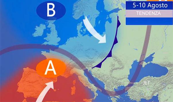 Afa in Sicilia e temporali al Nord