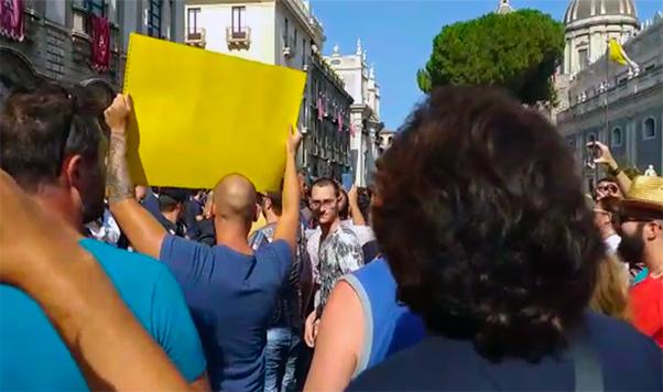 Catania, le proteste contro Salvini