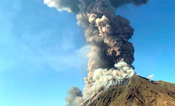 Esplosioni dallo Stromboli, nuova eruzione