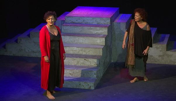 Medea di Anouith al teatro Musco - interviste