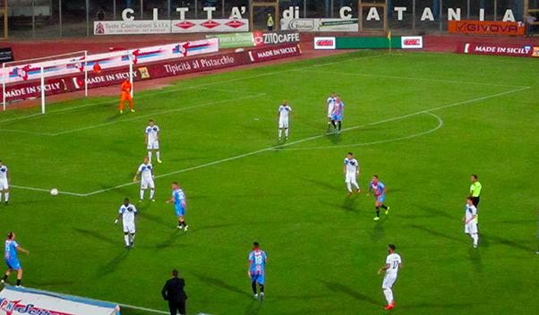 Catania-Bisceglie 1-1, primo pareggio