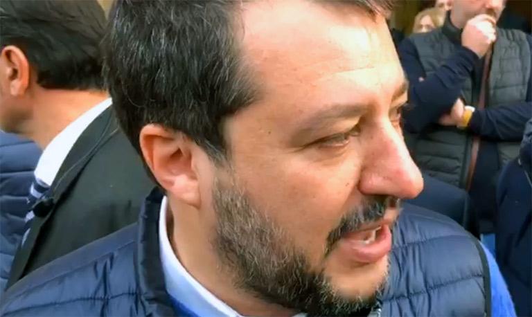 Matteo Salvini contestato a Palermo