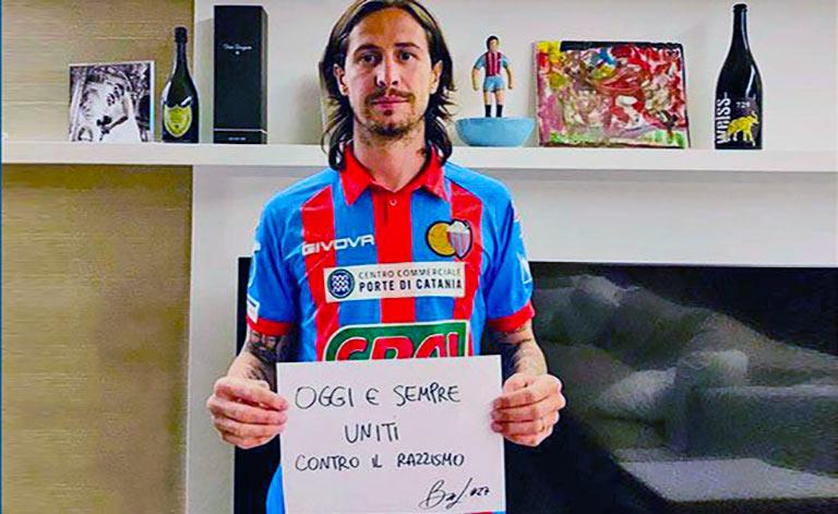 Calcio Catania contro il razzismo