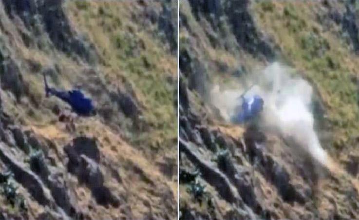 Elicottero precipita nel Palermitano