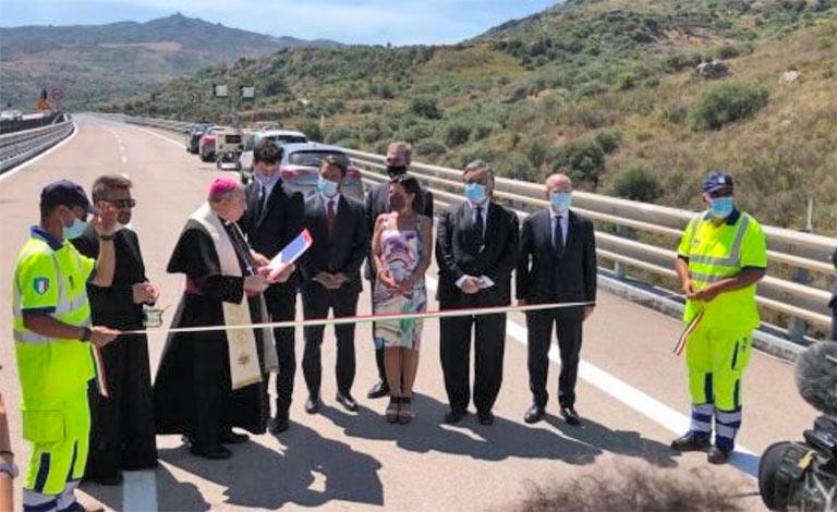 Ministra De Micheli inaugura viadotto Himera