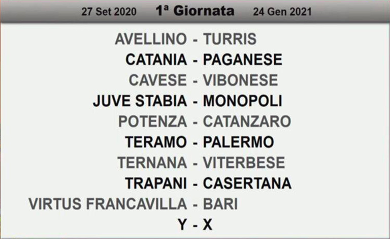 Calendari Serie C, Catania esordirà contro la Paganese