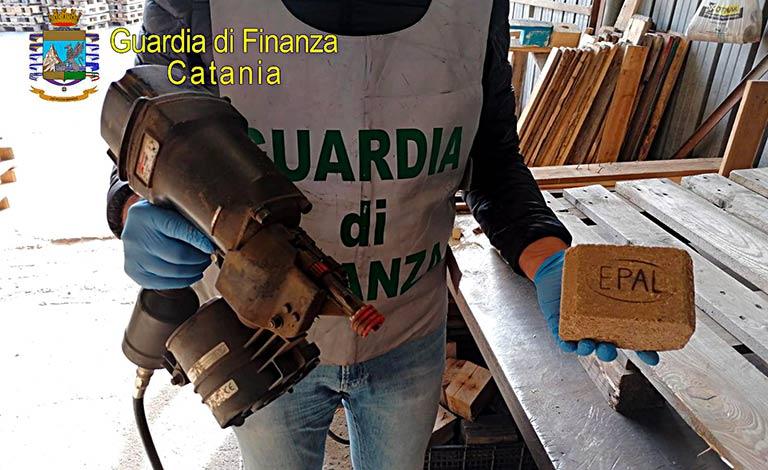 Gdf Catania sequestra fabbriche abusive di pallet