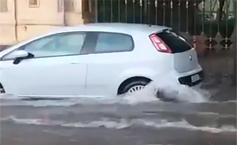 Violentissimo temporale a Palermo