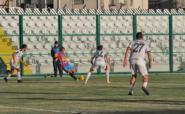 Catania-Cavese 1-1, pareggio sofferto nel finale