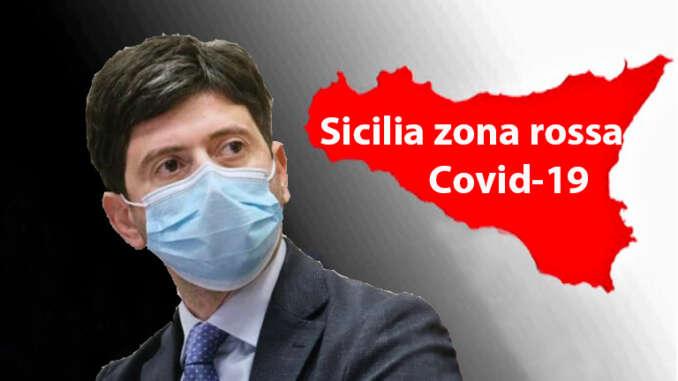 Ministero Salute, Sicilia resta zona rossa