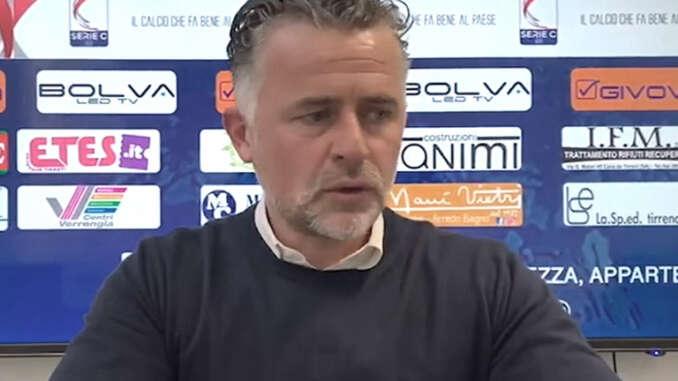 Cavese-Catania 0-2, interviste Baldini Maldonado e Giosa