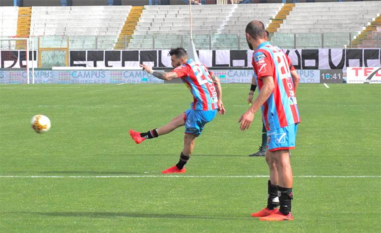 Goal di Dall'Oglio. Catania Viterbese 1-0