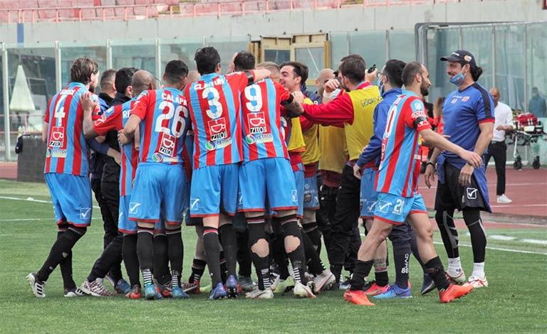 Catania Viterbese 1-0 segna Dall'Oglio