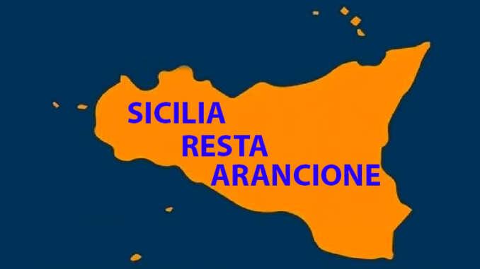 Sicilia riconfermata in area arancione