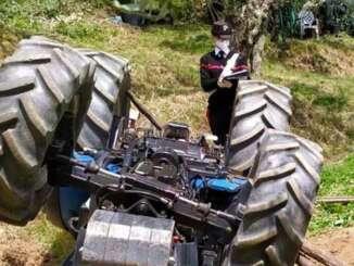 Incidente a Raffadali, trattore si ribalta muore pensionato
