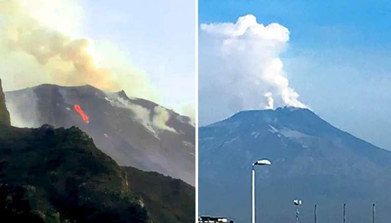 Etna prima Stromboli risponde, vulcani in attività