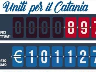 Calcio, uniti per il Catania supera 100 mila euro