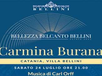 Carmina Burana nella Villa Bellini di Catania