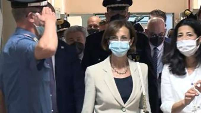 Ministra Marta Cartabia in visita a Catania