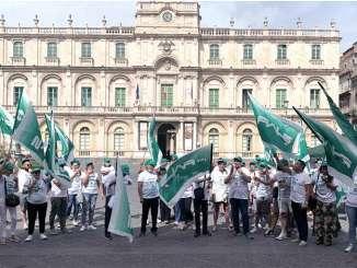 Fials-Sanità protesta in piazza Università a Catania