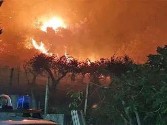 Incendi a Piana degli Albanesi, rischio abitazioni