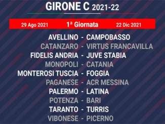 Catania gioca la prima partita a Monopoli, il calendario